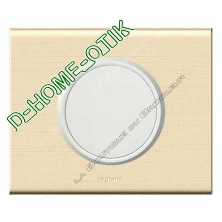 kit complet sonde pour thermostat enjoliveur blanc et plaque de finition erable