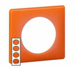 Plaque 4 postes Céliane serie 70's Orange