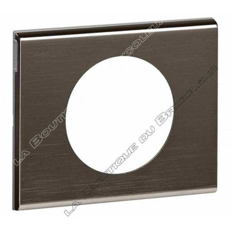 Plaque Celiane 1 poste black nickel ref 69031