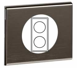 Plaque Celiane 2 postes Black Nickel ref 69032