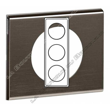 Plaque Celiane 3 postes Black Nickel ref 69033