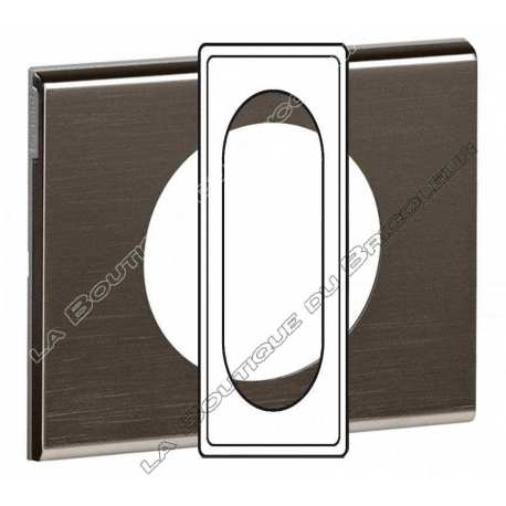 Plaque Celiane 6-8 modules Black Nickel ref 69036