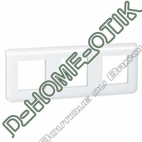 plaque programme mosaic - 3x2 modules horizontal - blanc ref 78806