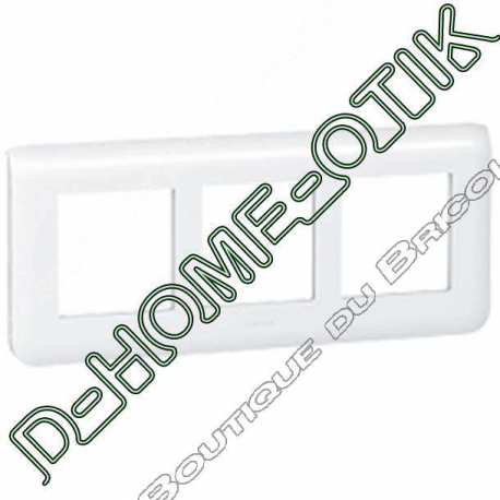 plaque speciale renovation programme mosaic - 3x2 modules horizontal - blanc ref 78866