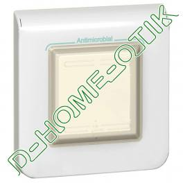 plaque antimicrobienne programme mosaic - ip 44 - 2 modules - blanc ref 78880