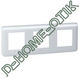 plaque programme mosaic - 3x2 modules horizontal - alu ref 79006