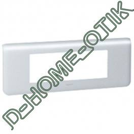 plaque programme mosaic - 6 modules horizontal - alu ref 79016