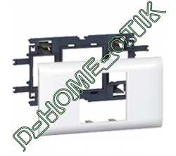 support programme mosaic - pour dlp couvercle 65 mm - 2 modules ref 10952