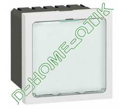 signaletique lumineuse a leds blanches programme mosaic - 2 modules - blanc ref 78520