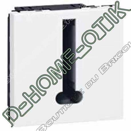 prise telephone programme mosaic - 8 contacts - 2 modules - blanc ref 78738