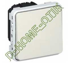 poussoir no+nf programme plexo composable blanc - 10 a ref 69631