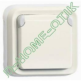 support plaque - pour encastre programme plexo composable blanc - 1 poste ref 69692