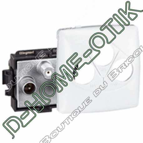 prise tv-fm-sat appareillage saillie composable - blanc ref 86142