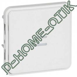poussoir no lumineux programme plexo composable blanc artic - 10a - 250v - lampe 230v ref 70732
