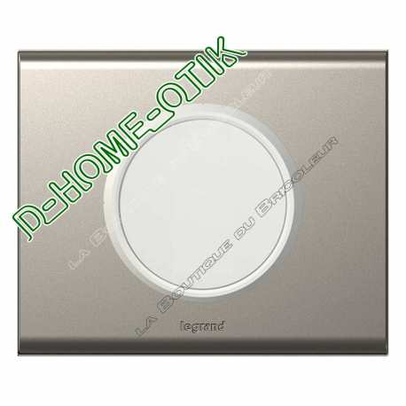 kit complet sonde pour thermostat enjoliveur blanc et plaque de finition nickel velours