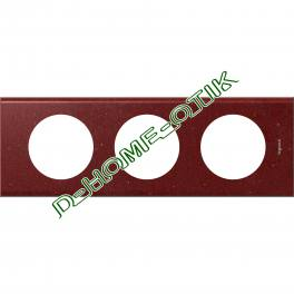 plaque celiane - 3 postes - corian pompeii red ref 69183