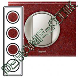 plaque celiane - 4 postes - corian pompeii red ref 69184