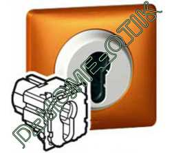 Interrupteur a cle 2 positions Celiane 2 NO 230 Volts ref 67009