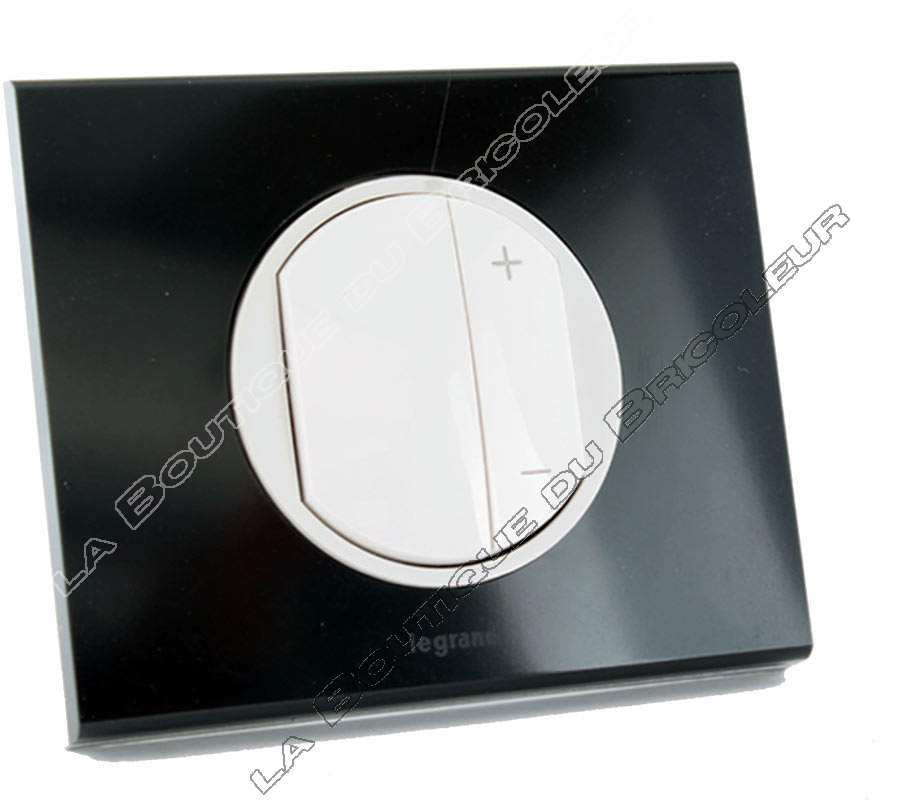 legrand ecovariateur led enjo blanc plaque verre graphi. Black Bedroom Furniture Sets. Home Design Ideas