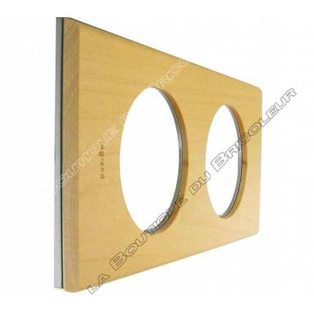 Plaque Celiane 2 postes erable ref 69212