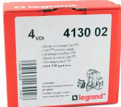 MODULE DE BRASSAGE RJ45 categorie 6FTP ref. 413002