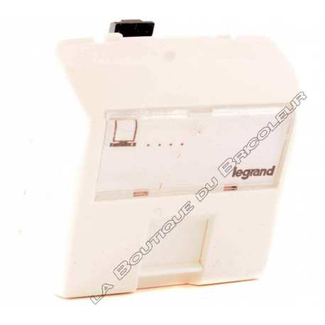 Prise RJ 45 Categorie 5e UTP 8 contacts appareillage saillie composale blanc ref 86159