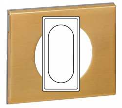 Plaque Celiane 4-5 modules ou 2 postes bronze dore ref 69135