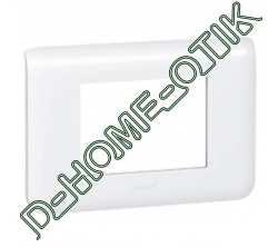 plaque programme mosaic - 3 modules - blanc ref 78803