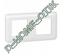 plaque programme mosaic - 2x2 modules horizontal - blanc ref 78804