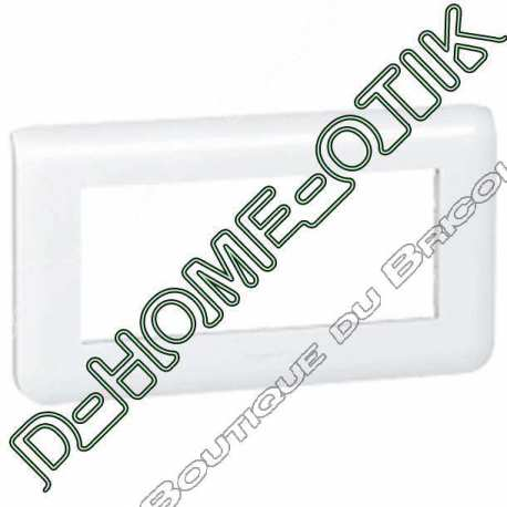 plaque programme mosaic - 5 modules horizontal - blanc ref 78815