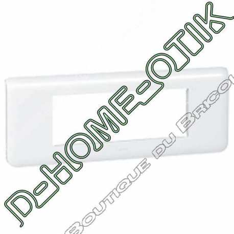 plaque programme mosaic - 6 modules horizontal - blanc ref 78816