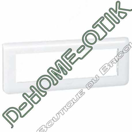plaque programme mosaic - 8 modules horizontal - blanc ref 78818