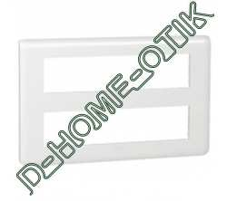plaque programme mosaic - 2x10 modules horizontal - blanc ref 78828