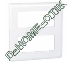 plaque programme mosaic - 2x5 modules - blanc ref 78830