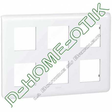 plaque programme mosaic - 2x3x2 modules - blanc ref 78832