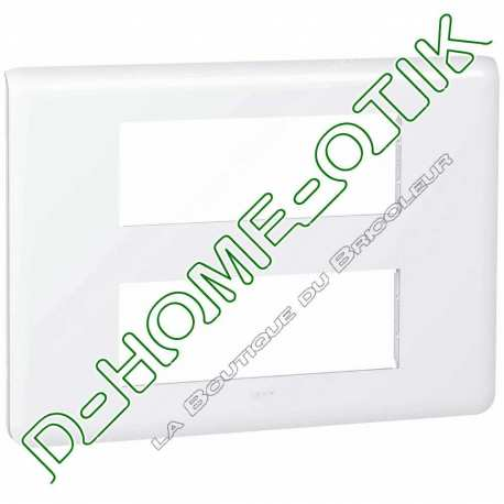 plaque programme mosaic - 2x6 modules - blanc ref 78836