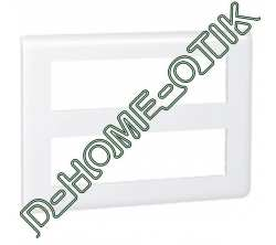 plaque programme mosaic - 2x8 modules - blanc ref 78837