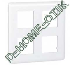 plaque programme mosaic - 2x2x2 modules - blanc ref 78838