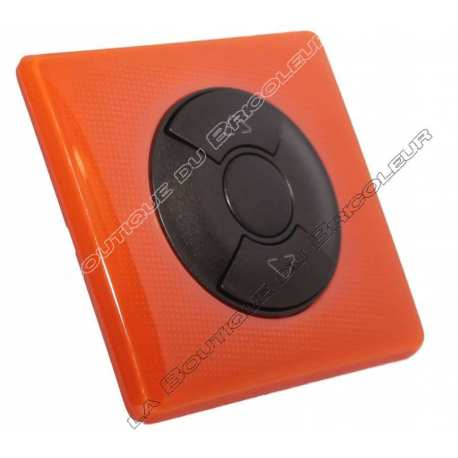 kit complet bouton poussoir simple volet roulant store finition 70s orange enjoliveur graphite