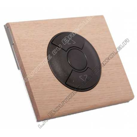 kit complet bouton poussoir simple volet roulant store finition bois chene blanchi enjoliveur graphite