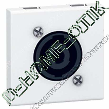 prise audio programme mosaic - speakon 4 contacts - 2 modules - blanc ref 78760
