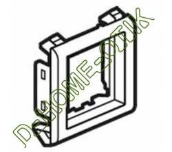support pour parois minces batibox - pour programme mosaic - 2 modules - alu ref 80295