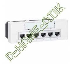 switch-line programme mosaic - 10 100 base t - 6+1rj 45 - poe - 6 modules - blanc ref 77901