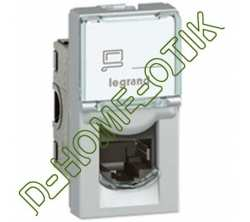 prise rj 45 programme mosaic - categorie 6 - ftp - 1 modules - alu - lcs2 ref 79462