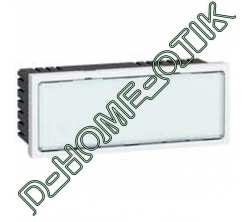 signaletique lumineuse a leds blanches programme mosaic - 5 modules - blanc ref 78522