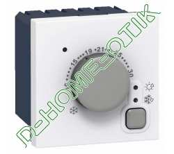 thermostat d ambiance electronique - programme mosaic - 5 a 30 degres c - 2 modules - blanc ref 76720