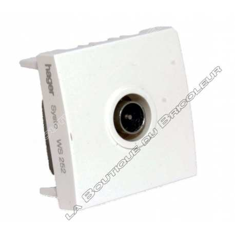 hager ws252 systo prise tv passage/terminale 15db