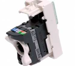 prise rj 45 programme mosaic - categorie 5e - utp - 1 modules - blanc - lcs2 ref 76551