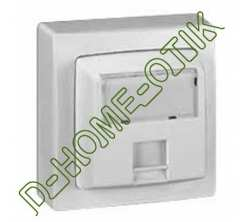 prise rj 45 categorie 6 ftp 9 contacts appareillage saillie complet - blanc ref 86047