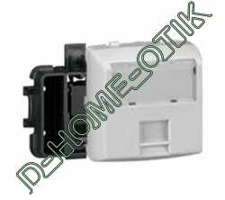 prise rj 45 categorie 6 utp 8 contacts appareillage saillie composable - blanc ref 86144